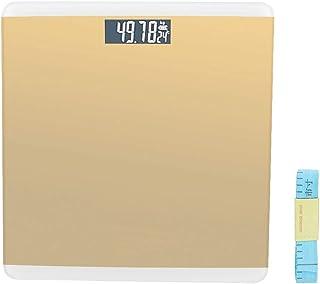 Báscula digital de peso corporal, peso corporal doméstico Báscula electrónica Pesaje de salud Pantalla grande Báscula de alta precisión Monitor de salud Báscula de baño para gimnasio en casa(Oro)