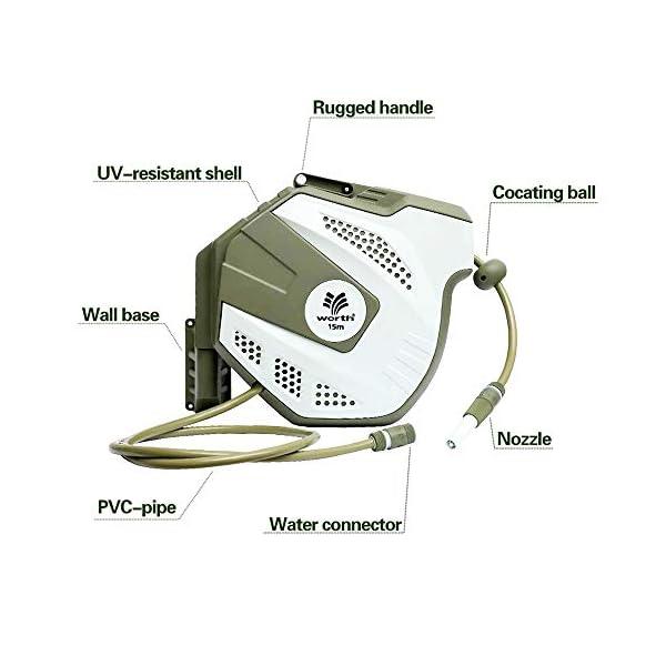Worth – Enrollador automático de manguera (180°, orientable)