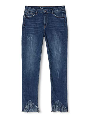 Marchio Amazon - find. Jeans ncon Orlo Sfrangiato Donna, Blu (Dk Blue), 28W / 32L, Label: 28W / 32L