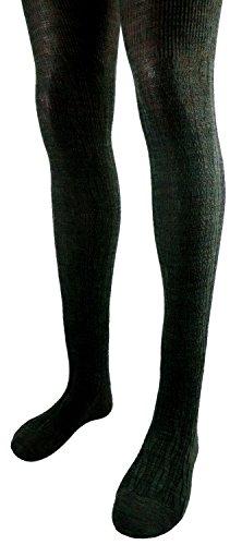 Shimasocks Damen Strumpfhose Zopfmuster SLIM FIT, Farben alle:jägergrün, Größe:40/42