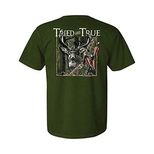 Tried and True Camiseta unissex com manga e estampa Bow Hunting, Hemp, M