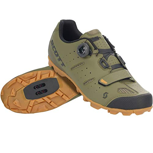 Scott MTB Elite BOA Shoe (Green Moss/Black, 46.0 EU) - Adults' 2020