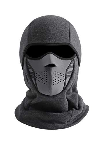 IRELIA Winter Windproof Fleece Ski Mask Balaclava Headwear Motorcycle Thermal Face Mask Bandanas Gray