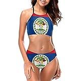 KiuLoam Belize Flag Bikini Sets Two Piece...