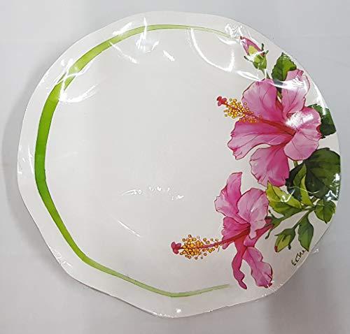Exclusive Trade 10 Piatti Medi Fiore Ibiscus Hibiscus D 24 cm