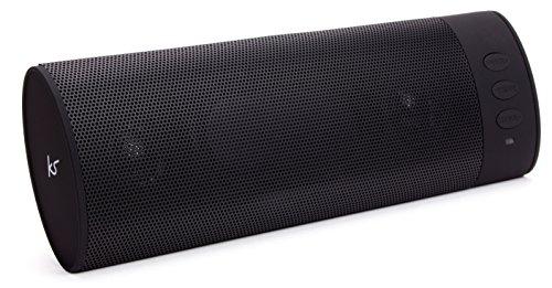 KitSound BoomBar Universal Tragbares Aufladbares Stereo Bluetooth Wireless Soundsystem Kompatibel mit Apple iOS und Android Smartphones, Tablets und MP3 Geräten - Schwarz
