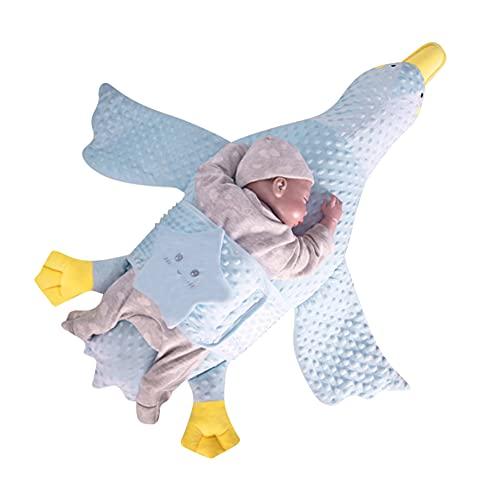 URFEDA Almohada para Bebés,antiasfixia de Espuma Capazo de bebé Multifuncional Almohada para Dormir Almohada White Goose para El Cojín De Bebé Niños 97cmx86cm
