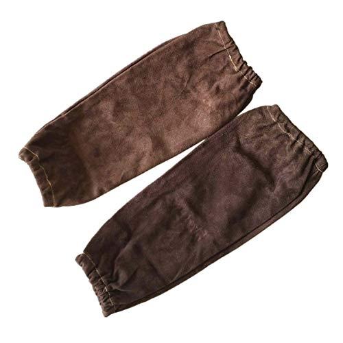 Manches de protection de bras de soudeur professionnel, manchons à souder, manchons en cuir de vachette fendue 40cm 16\