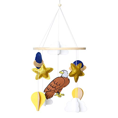 karrychen Baby Crib Felt Owl Cloud Mobile Rattle Infant Cot Wind Chime Bed Bell Toys Decor- 1#