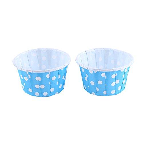 Yosoo 100er Backen Tassen Mini Papier Kuchen Cupcake Wrappers Fällen Halter für Muffin Cups Liner Cupcake Papier Backen Farbe für Halloween Hochzeit Geburtstag Party Dekoration Allerheiligen(Blue)