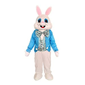 100% Polyester Imported .Adult One Size .Can fit 5'3''-6'1'' under 200lbs. Hand Wash Deluxe Bunny Costume includes all the picture you see Look to rubies for all your holiday mascot favorites