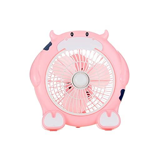 El nuevo mini ventilador eléctrico tiene una variedad de lindos dibujos animados. Pequeño ventilador eléctrico para dormitorio, oficina y hogar, pequeño ventilador eléctrico ultra silencioso. (Rosa 5)