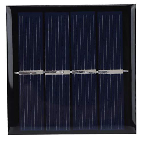 Meiyya Cargador de Panel Solar de bajo Costo, componentes Paneles solares Anti-Nieve Hermosos y Fuertes, Panel Solar de 0,45 W 2 V 58x58 mm para proyectos domésticos pequeños Proyectos científicos