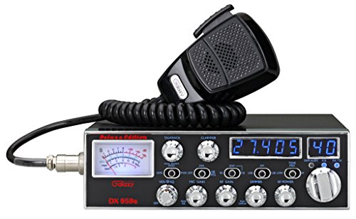 Galaxy DX-959B Mobile CB Radio with Blue Frequency and Channel Digits and Backlit StarLite Faceplate