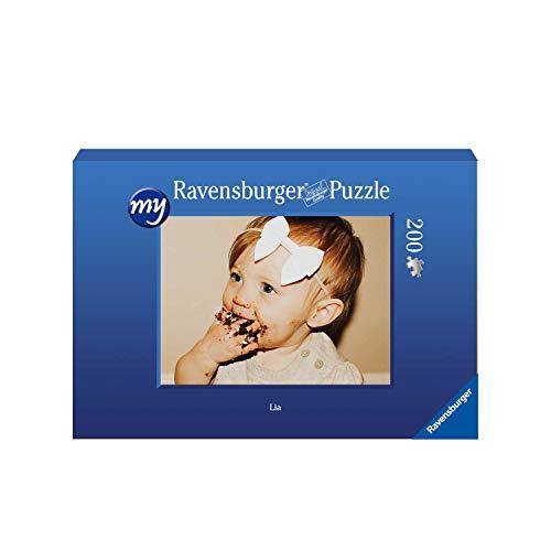 Ravensburger Fotopuzzle 49 bis 2000 Teile Puzzle zum Selbstgestalten - personalisierte Fotogeschenke für Kinder und Erwachsene (200 Teile in Blauer Pappschachtel - Querformat)