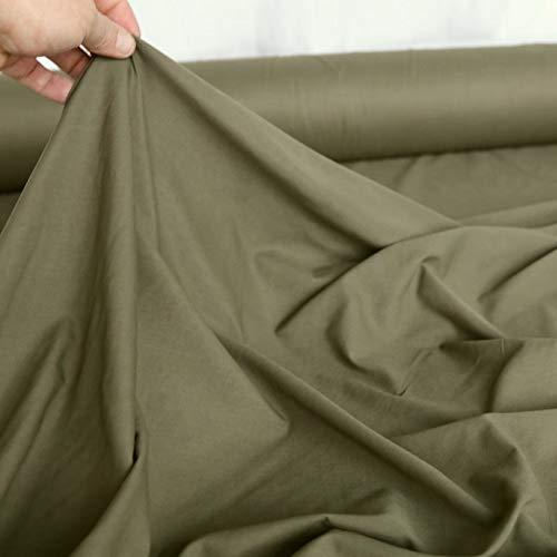 TOLKO Camouflage Stoff aus Nylon | Farbecht Reißfest UV-beständig | Popeline Meterware der schwedischen Armee | leicht 144cm breit | 1b-Ware (Schweden oliv leicht)