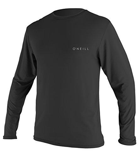 O'Neill Herren-T-Shirt, Basic Skins, LSF 30+, langärmlig, Sonnen-T-Shirt, Herren, 5088-002-2XL, Schwarz, XXL