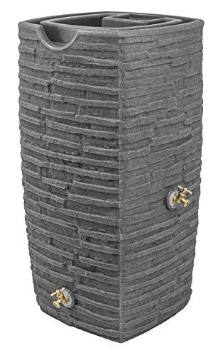 Good Ideas IM-RWLK50-DAR Impressions Riverwalk 50 Gallon Saver-Dark Granite Rain Barrel