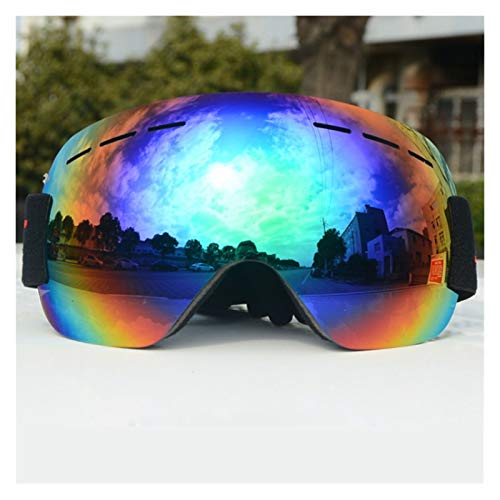 Exterior Gafas de esquí de Invierno Anti-Niebla Anti-Ultravioleta Gafas de esquí Ski Sports Gafas Adultas Hombres y Mujeres Gafas de esquí para Hombres, Mujeres y jóvenes (Color : Green)
