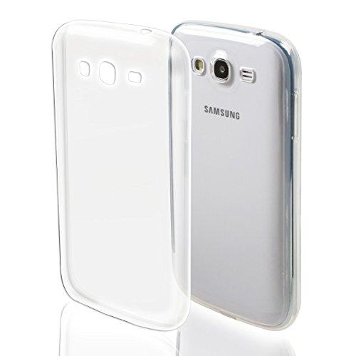 REY Funda Carcasa Gel Transparente para Samsung Galaxy Grand Neo/Grand Neo Plus Ultra Fina 0,33mm, Silicona TPU de Alta Resistencia y Flexibilidad