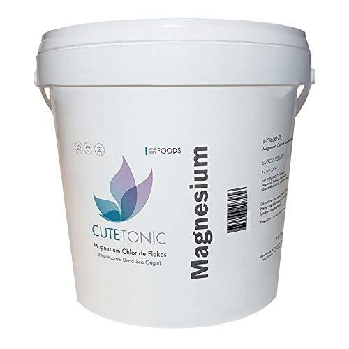 Cutetonic® Flocons de Chlorure de Magnésium (Magnesium Chloride Flakes) Ultra Purs, Origine de la Mer Morte (1KG)
