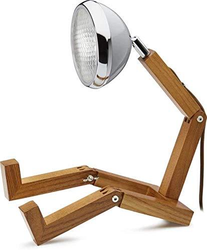 Mr. Wattson, die flexible Eschenholz Tischlampe in Nardo Grey - Aluminium mit LED Leuchtmittel [Energieklasse A+++]