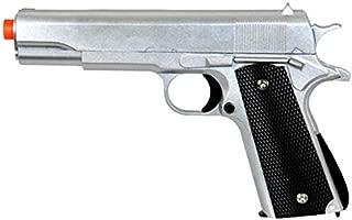 airsoft pistol handgun g13 replica metal shell bb gun metallic silver 6mm bb 250 fps hard and accurate aim(Airsoft Gun)