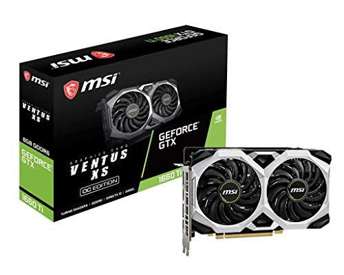 MSI GeForce GTX 1660 Ti Ventus XS 6G OC GDDR6 Gaming Graphic...