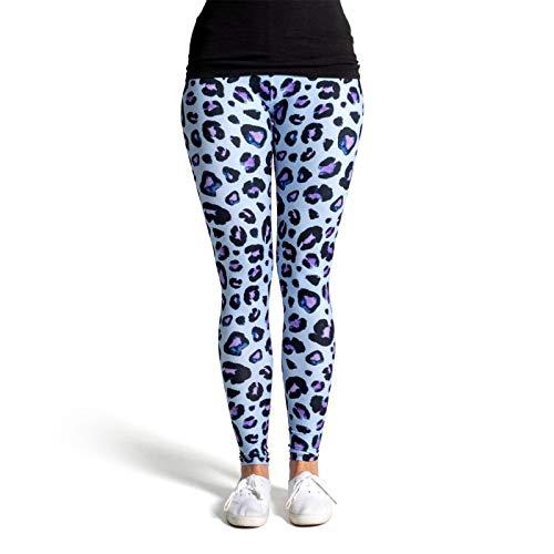 cosey - Leggings Coloridos Impresos (Talla única) - Design Estampado de Leopardo 6