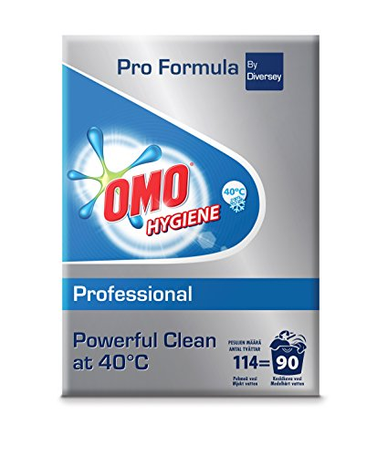 Omo Professional 100874871 Hygiene Vollwaschmittel für hohe Hygieneansprüche, Pulverwaschmittel, 8,55 kg, für 90 Wäschen
