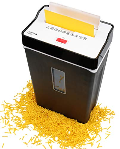 Olympia PS 55 CC Profi Aktenvernichter (mit Partikelschnitt, Sicherheitsstufe P4, Kreditkarte, 10 Blätter 80 g/m², Papierschredder fürs Büro, Papiervernichter, Reißwolf mit Papierkorb, Sichtfenster)