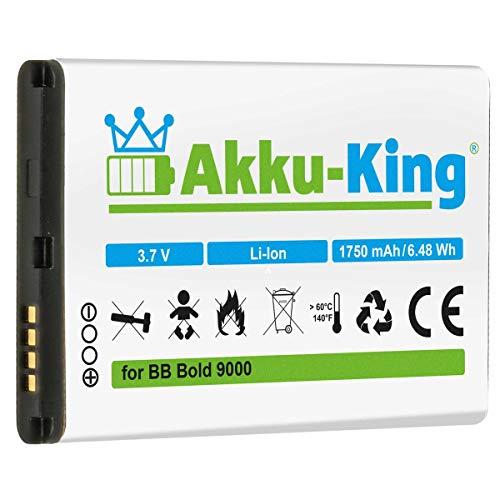 Akku-King Akku kompatibel mit BlackBerry M-S1, BAT-14392-001 - Li-Ion 1750mAh - Bold 9000, 9030, 9220, 9630, 9700, 9780, 8980 Curve, Magnum, Niagara, Onyx