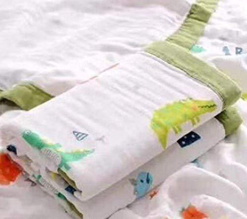 OJPOGHU Toallas de algodón Puro Hoja de baño de baño Múltiples Colores, 2 Piezas por Juego (Color : Little Dinosaur*2, Size : 110 * 110)