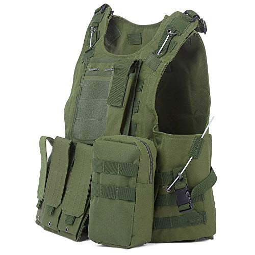 ABCCS Tactical Military Swat Field Battle Airsoft Molle Combat Assault Plate Carrier Vest