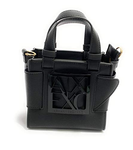 Armani Exchange Womens Shoulder-handbags Tote, Black, TU