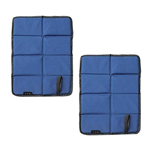Momolaa Faltbares Sitzkissen, Faltbar Sitzunterlage Outdoor mit Wasserdicht vor Kälte, Schmutz und Hitze, zum Outdoor Aktivität(30 x 39cm) (Blau)