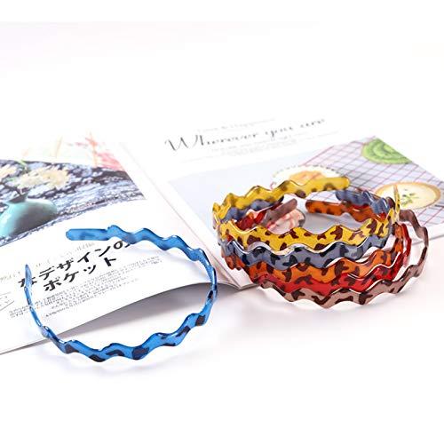 6psc Hair Bands Headbands for Women Girls,Plastic Leopard Print Headbands Teeth Comb Headbands,Hair Hoop,ladies elastic non-slip headband unisex headband (Acrylic Leopard Print)