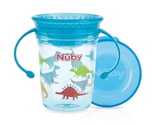 Nûby - Taza mágica de tritan 360 con asas-Aqua-240ml-6M