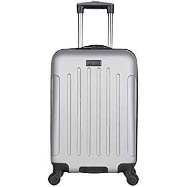 Heritage Travelware Lincoln Park 20  Abs 4-Wheel Carry on Luggage, Light Silver