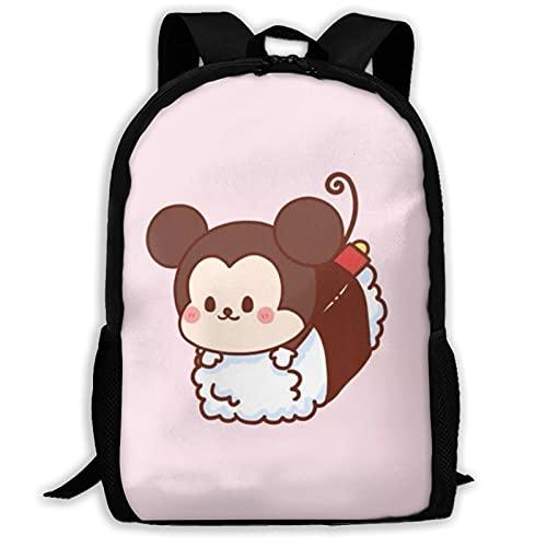 Mochila de Mickey Cartoon Mouse Unisex Poliéster Casual Mochilas Viaje Escuela Bolsa de Juego