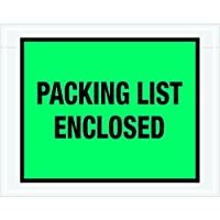 Ship Now Supply SNPL408 Packing List Enclosed Envelopes 7 x 5 1/2 5width 7 Length green (Pack of 1000) [並行輸入品]