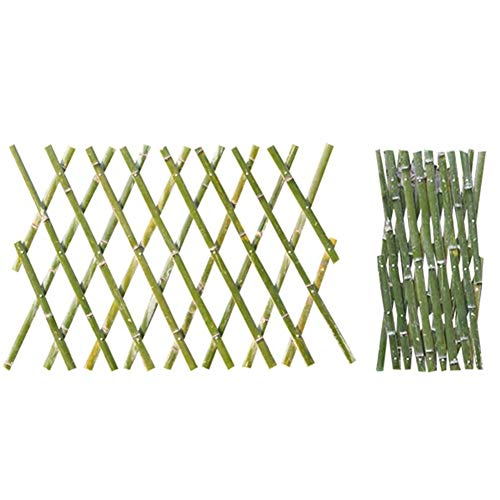 JiANFEI-weilan tuinhek insteekhek natuurlijke bamboe waterdicht groen gras buitendecoratie rekbaar, 5 maten