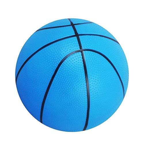 Sitrda - Balón de Baloncesto pequeño de 15,2 cm para niños, Pelota de Mano Suave y rebotadora, Color Azul