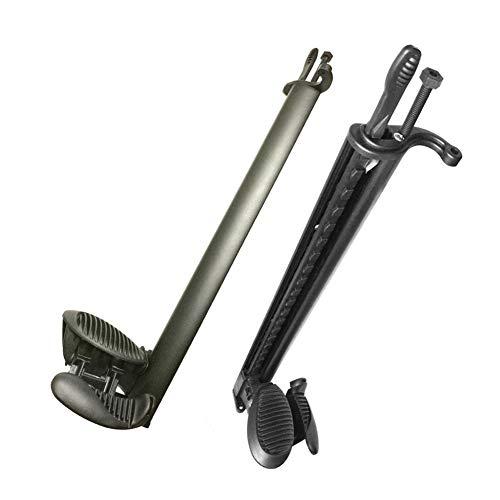 RANGE Kayak 1 par de Aluminio Canoa del kajak del pie Ajustable Brace Control del timón Reposapiés Rafting Accesorio para Pescar