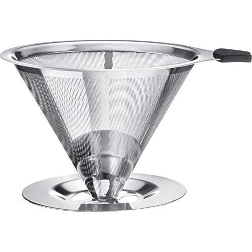 Westmark Dauerfilter/Dripper Kaffee, mit Tassenhalterung, Brasilia, Aufsatzfläche 10 cm, 18/8 Rostfreier Edelstahl, 24502260