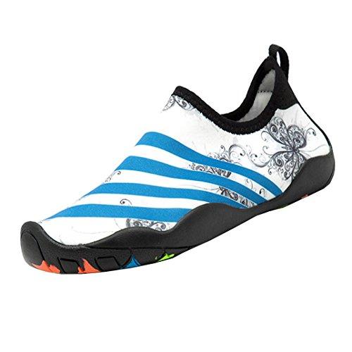 Bleu Marin//Bleu//Vert Citron Gar/çon et Fille 31 Lakeland Active Eden Chaussures Aquatiques pour Piscine et Plage