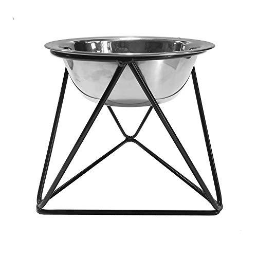 DANXQ Futternapf für Katzen und Hunde, nordischer Stil, dreieckiger Rahmen, Metall, Eisen, rund, aus Edelstahl, freistehend, 13 x 15 x 13 cm