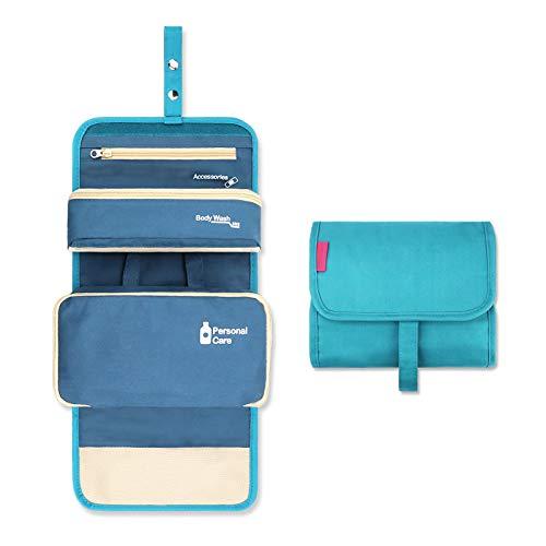 Neceser de viaje, bolsa de aseo colgante de gran capacidad, impermeable, multicompartimentos, bolsa de viaje para hombre y mujer, bolsa de aseo para cosméticos, champús
