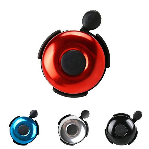 AD Bicycle Bell - Aluminum Bike Bell Ring - Classic Bicycle Bell for Adults Men Women Kids Girls Boys Bikes - Mountain Bike Accessories - Red