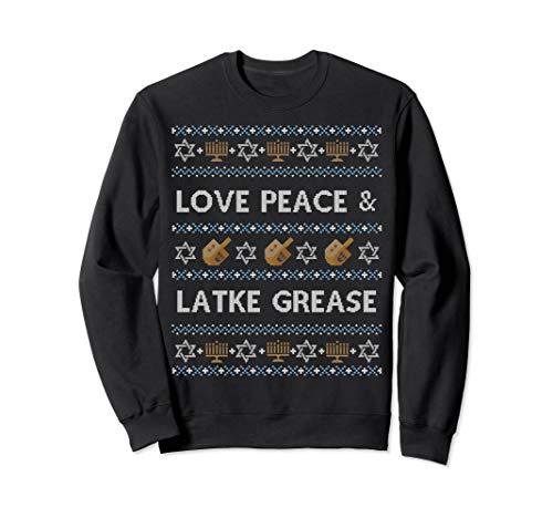 Funny Ugly Hanukkah Sweater Love Latke Grease Sweatshirt